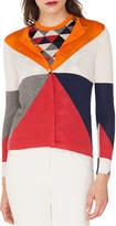 Akris Long-Sleeve Diamond-Jacquard Silk/Cashmere Cardigan