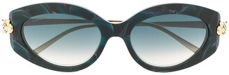 Cartier Panthere de oval-frame sunglasses