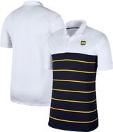 Nike Men's White/Navy Michigan Wolverines Striped Polo