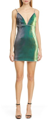 Area Crystal Trim Minidress