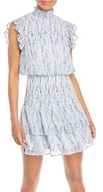 Aqua Ruffled Smocked Mini Dress - 100% Exclusive