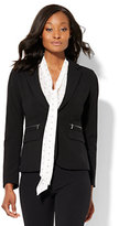 New York & Co. 7th Avenue Design Studio - One-Button Jacket - Zip-Accent - Modern Fit - Double Stretch - Petite