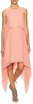 BCBGMAXAZRIA Mailee Silk Tiered Asymmetrical Dress