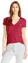 Lacoste Women's Short-Sleeve Cotton Jersey V-Neck T-Shirt