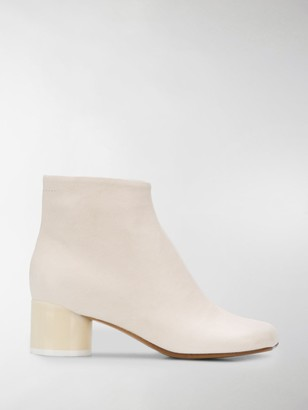 MM6 MAISON MARGIELA 45mm Square-Toe Ankle Boots