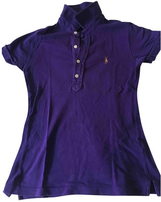 Polo Ralph Lauren Purple Cotton Top for Women