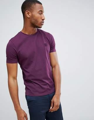 BOSS Tales small logo t-shirt in purple
