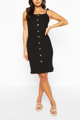boohoo Button Front Mini Dress