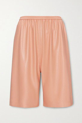 LAPOINTE - Faux Leather Shorts - Peach