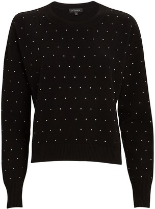 Intermix Deanna Rhinestone Wool-Cashmere Sweater
