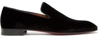 Christian Louboutin Dandelion Velvet Loafers - Mens - Black