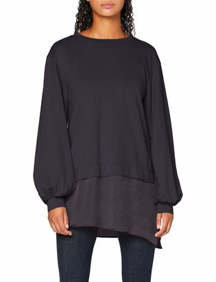 Find. Amazon Brand Women's Sweatshirt with Satin Hem