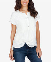 Lucky Brand Embroidered High-Low Top