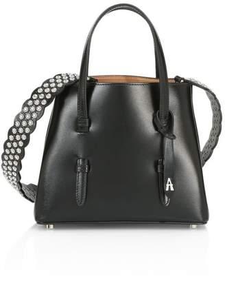 Alaia Mini Mina Leather Star Strap Satchel
