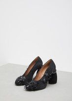 Dries Van Noten black beaded heel