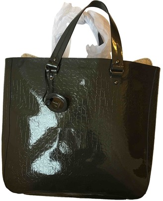 Calvin Klein Green Patent leather Travel bags