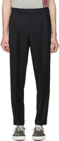 Paul Smith Navy Pleated Trousers
