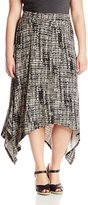 Calvin Klein Women's Plus-Size Printed Handkerchief Skirt