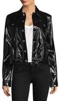 Helmut Lang Vinyl Button-Front Jacket