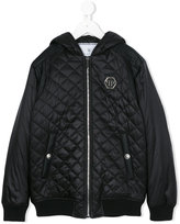 Philipp Plein quilted hooded padded jacket - kids - Nylon/Polyester - 8 yrs