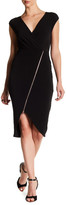 Rachel Roy Cap Sleeve Zip Front Dress