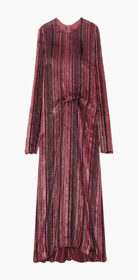 Sies Marjan Maude Metallic Devore-velvet And Chiffon Midi Dress