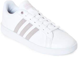 adidas Cloud White & Ice Purple Cloudfoam Advantage Low-Top Sneakers