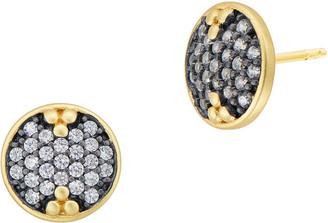 Freida Rothman Pave Disc Stud Earrings