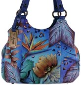 Anuschka Triple Compartment Medium Satchel Purse