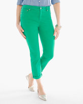 Chico's So Slimming Girlfriend Crops in Congo Green