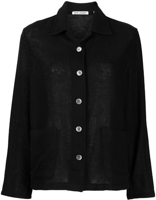 Our Legacy Knitted Classic-Collar Shirt