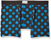 Happy Socks Men's 1 Pack Blue Big Dot Boxer Brief