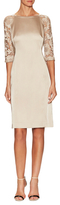 Lafayette 148 New York Lace Sleeve Collette Sheath Dress