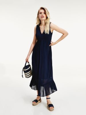 Tommy Hilfiger Stripe Viscose Midi Dress