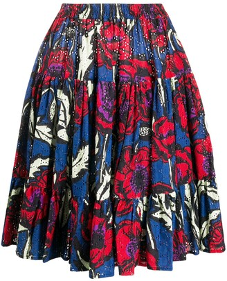 La DoubleJ Floral Print Tiered Style Skirt