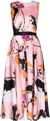 Roksanda Tibi Dance-print midi dress