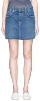 Current/Elliott 'The Mini Cut-Off' denim skirt