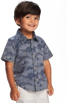 Old Navy Camo-Print Dobby Shirt for Toddler Boys