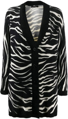 Twin-Set Zebra-Print Cardigan