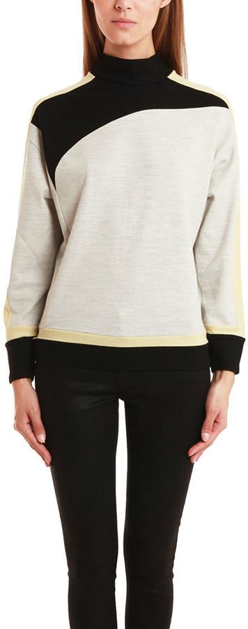 Helmut Lang Sonar Colorblock Wool Sweater
