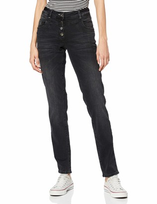 Cecil Women's 372793 Scarlett Loose Fit Straight Jeans