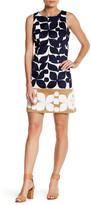 London Times Sleeveless Print Dress (Petite)