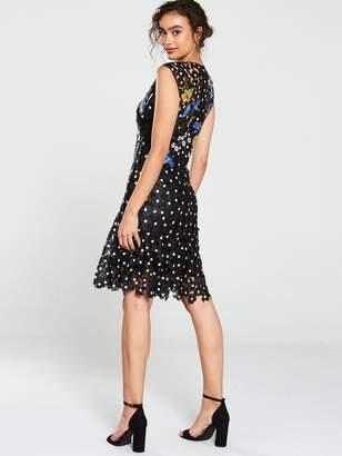 Karen Millen Trailing Lilac Chemical Lace Mini Dress