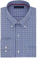 Tommy Hilfiger Men's Non Iron Regular Fit Tattersall Buttondown Collar Dress Shirt