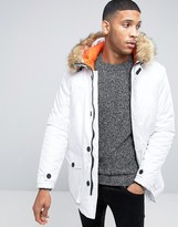 D-struct Parka With Faux Fur Trim