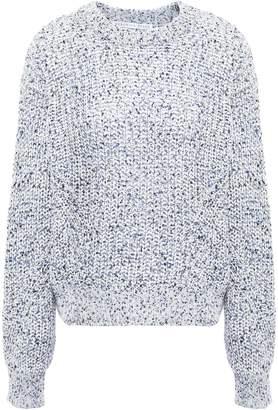 Veronica Beard Ryce Marled Open-knit Cotton Sweater