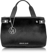 Armani Jeans Eco Leather & Hair-calf Tote Bag