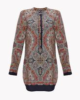 Theory Scarf Print Belted Tunic