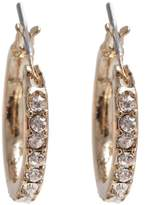 Anne Klein Gold Tone and Crystal Earrings