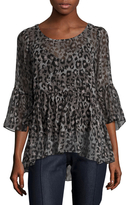Tracy Reese Silk Printed Flounce Tunic